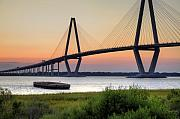 South Carolina Originals - Arthur Ravenel JR. Bridge Sunset by Dustin K Ryan