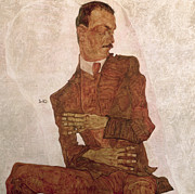 Signed Paintings - Arthur Roessler by Egon Schiele