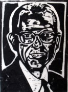 Wood Block Print Drawings - Arthur W. Wetterer by Richard Wetterer
