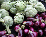 Photography - Artichokes and Eggplants  by Enzie Shahmiri
