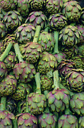 Healthy Eating Art - Artichokes In Market by Stuart Gregory