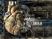 Biomedical Illustration Art - Artificial Heart, Conceptual Artwork by Laguna Design