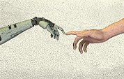 Creation Of Adam Posters - Artificial Intelligence, Artwork Poster by Friedrich Saurer