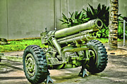 Canons Framed Prints - Artillery Framed Print by Cheryl Young