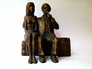 Artist Sculpture Acrylic Prints - Artist and his Model Acrylic Print by Milen Litchkov