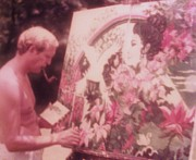 At Work Mixed Media Posters - Artist at work  1972 Poster by Gunter Erik  Hortz