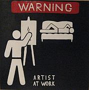 At Work Painting Posters - Artist at Work Poster by Alex Spinello