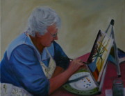 Betty Pimm Framed Prints - Artist at Work Framed Print by Betty Pimm