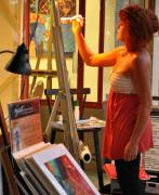 Portrait Painter Prints - Artist at Work Print by Rose  Hill