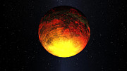Terrestrial Prints - Artist Concept Of Kepler-10b Print by Stocktrek Images
