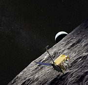 Space Probes Posters - Artist Concept Of The Lunar Poster by Stocktrek Images