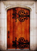 Wooden Door Prints - Artist Entrance Print by Linda Mishler