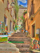Sicily Digital Art Posters - Artist Gallery in Sicily Poster by Alberta Brown Buller