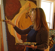 Lisa Kramer - Artist in Studio at Work