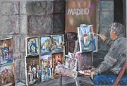 Spain Pastels - Artist of Madrid  by Barry Rothstein
