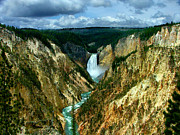 The Grand Canyon Of The Yellowstone Framed Prints - Artist Point Framed Print by Katie LaSalle-Lowery