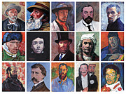 Delacroix Digital Art Prints - Artist Portraits Mosaic Print by Tom Roderick