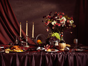 Banquet Photo Metal Prints - Artistic Food Still Life Metal Print by Oleksiy Maksymenko