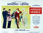 1955 Movies Photo Framed Prints - Artists And Models, Dean Martin, Jerry Framed Print by Everett