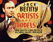 Benny Framed Prints - Artists And Models, Jack Benny, 1937 Framed Print by Everett