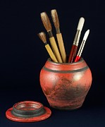 Raku Art - Artists Brushes by Vilas Malankar