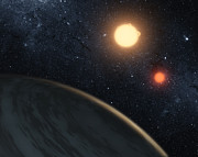 Binary Stars Posters - Artists Concept Illustrating Kepler-16b Poster by Stocktrek Images