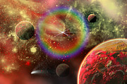 Dream Digital Art Prints - Artists Concept Illustrating The Cosmic Print by Mark Stevenson