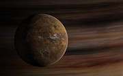Digitally Generated Image Art - Artists Concept Of A Mars-like Moon by Frieso Hoevelkamp