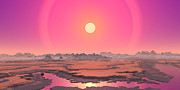 Geography Digital Art - Artists Concept Of A Red Giant by Walter Myers