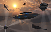Flying Saucer Digital Art - Artists Concept Of Alien Stealth by Mark Stevenson