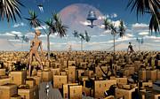 Artists Concept Of Aliens Visiting Print by Mark Stevenson