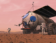 Artists Concept Of How A Martian Print by Walter Myers