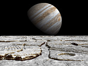 Galilean Moons Posters - Artists Concept Of Jupiter As Seen Poster by Walter Myers