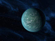 Terrestrial Digital Art Prints - Artists Concept Of Kepler 22b, An Print by Stocktrek Images