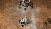 Rocket Boosters Prints - Artists Concept Of Nasas Curiosity Print by Stocktrek Images