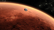 Planet Mars Prints - Artists Concept Of Nasas Mars Science Print by Stocktrek Images