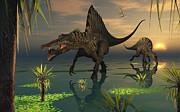 Artists Concept Of Spinosaurus Print by Mark Stevenson
