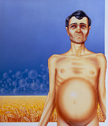Starvation Posters - Artists Depiction Of Coeliac Disease Poster by David Gifford