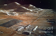 Colonization Prints - Artists Impression Of A Future Lunar Print by NASA / Science Source