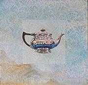 Silver Tea Pot Paintings - Arts and Craft Tea Pot by Violet Taylor