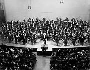Arturo Toscanini 1867-1957 Receives Print by Everett