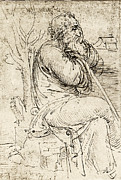 Leonardo Sketch Prints - Artwork By Leonardo Da Vinci Print by Sheila Terry