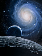 Spiral Galaxy Posters - Artwork Of A Spiral Galaxy Poster by Chris Butler