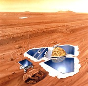 Rover Posters - Artwork Of Mars Pathfinder After Landing On Mars Poster by Nasa