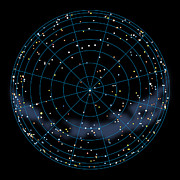 Star Map Posters - Artwork Of The Celestial Northern Hemisphere Poster by Julian Baum