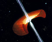 Gamma Ray Burst Photos - Artwork Showing A Mechanism For Gamma-ray Bursts by Nasa