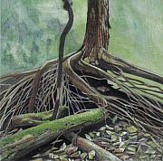 Tree Roots Paintings - Arvore by Nelson Caramico
