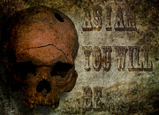 Skull Digital Art - As I Am by Vic Weiford