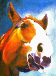 Large Format Horse Print Art - As I Was Saying by Susan A Becker