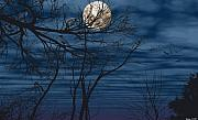 Moon Pastels Metal Prints - As the crow flies Metal Print by Evelyn Patrick